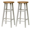 "Winsome Tabby 2-Pc 30"" Bar Stool Set Natural & White"