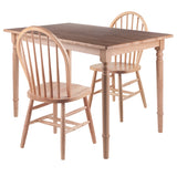 Winsome Ravenna 3pc Set Dining Table Windsor Chairs