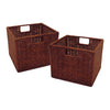 Winsome Leo Set of 2, Wired Basket, Small