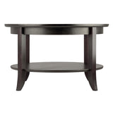 Winsome Genoa Coffee Table, Glass inset and shelf
