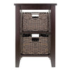 Winsome Morris Side Table with 2 Foldable Baskets