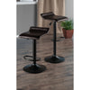 Winsome Paris Set of 2 Airlift Adjustable Swivel Stool with PU Leather Seat and Black Metal Base