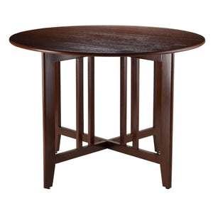 "Winsome Alamo Double Drop Leaf Round 42"" Table Mission"