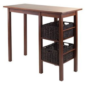 Winsome Egan 3-Pc Breakfast Table with 2 Baskets Set