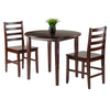 Winsome Clayton 3-PC Set Drop Leaf Table with 2 Ladderback Chairs