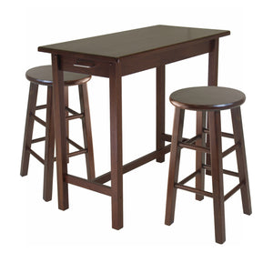Winsome Sally 3-Pc Breakfast Table Set with 2 Square Leg Stools