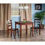 Winsome Pulman 3-Pc Set Extension Table 2 Ladder Back Chairs
