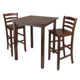 "Winsome Parkland 3-Pc High Table with 29"" Ladder Back Stool"