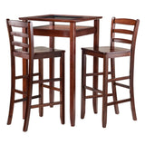 Winsome Halo 3pc Pub Table Set with 2 Ladder Back Stools
