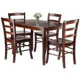 Winsome Inglewood 5-PC Set Dining Table w/ 4 Ladderback Chairs