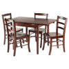 Winsome Pulman 5-PC Set Extension Table with Ladder Back Chairs