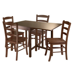 Winsome Lynden 5pc Dining Table with 4 Ladder Back Chairs