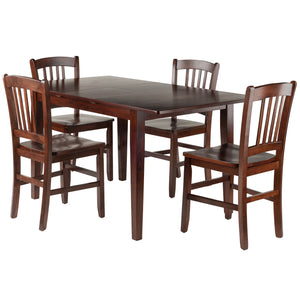 Winsome Anna 5-PC Dining Table Set w/ Slat Back Chairs