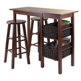 Winsome Egan 5pc Breakfast Table with 2 Baskets and 2 Stools