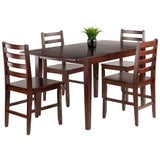 Winsome Anna 5-PC Dining Table Set w/ Ladder Back Chairs