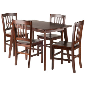 Winsome Shaye 5-PC Set Dining Table w/ Slat Back Chairs