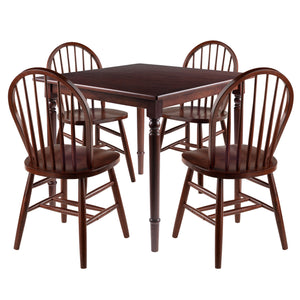 Winsome Mornay 5pc Set Dining Table with Windsor Chairs