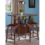 Winsome Albany 3-pc Set High Table w/ Counter Stools
