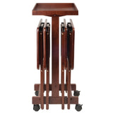 Winsome 6-PC Snack Table Set Walnut
