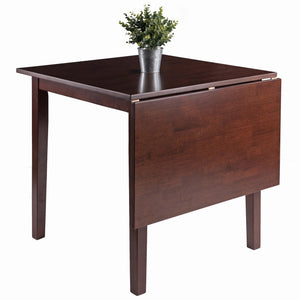 Winsome Perrone High Table with Drop Leaf, Walnut Finish