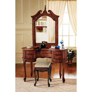TOSCANO QUEEN ANN DRESSING TABLE AND MIRROR