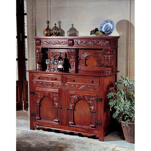TOSCANO JACOBEAN COURT CUPBOARD BUFFET
