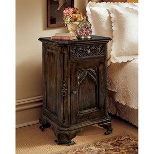 TOSCANO GOTHIC BED SIDE TABLE