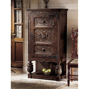 TOSCANO COAT OF ARMS GOTHIC REVIVAL ARMOIRE