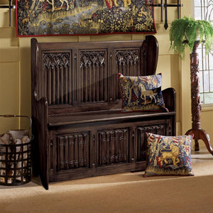 TOSCANO KYLEMORE ABBEY GOTHIC BENCH
