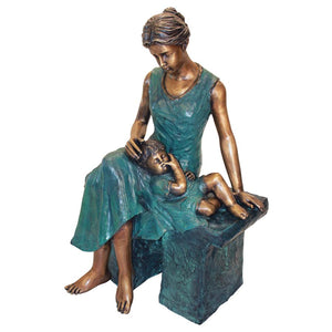 TOSCANO MOTHERS MOMENT BRONZE STATUE