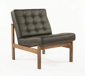 The Ellen Lounge Chair in Leather