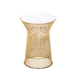 The Fishburne Side Table with White Carrera style Marble Top