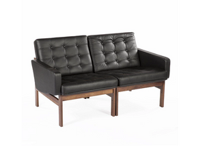 The Ellen Loveseat, Black