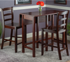 Winsome Perrone 3pc High Table with Ladder Back Chair