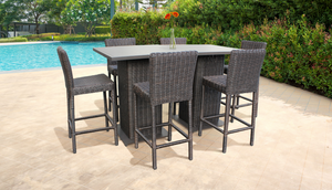 Venice Pub Table Set With Barstools 8 Piece Outdoor Wicker Patio Furniture