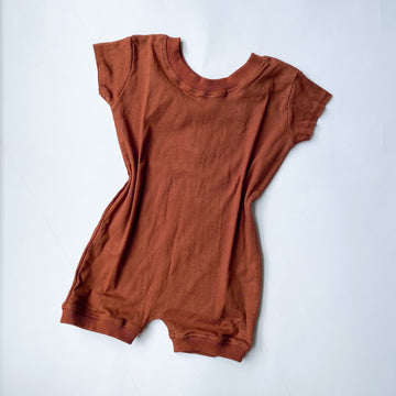 Boxy Playsuit - Burnt Ochre