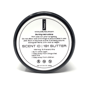 SCENT ID | 191 SUTTER Candle Joel Nolan