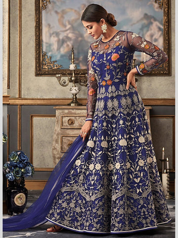 Anarkali Suits - Net Embroidery & Stones