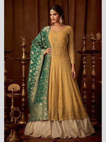 Anarkali Suits - Silk & Georgette Embroidery