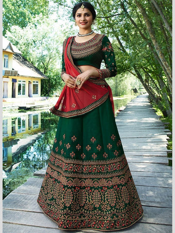 Lehenga - Embroidery on Net & Silk