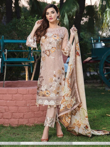 Pakistani Dress - Embroidered Chiffon Pakistani Dress