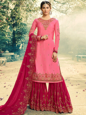 Indian Dress - Santoon & Georgette Embroidery