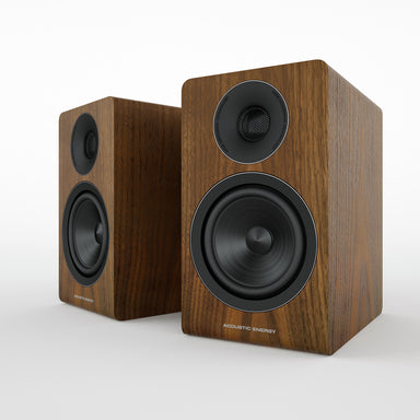 acoustic energy ae300 bookshelf speakers walnut