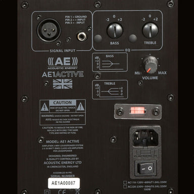 Acoustic Energy AE1 Active Monitors