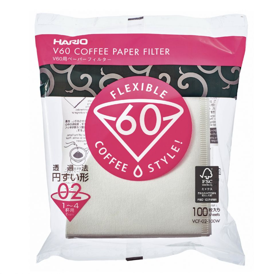 Hario V60 02 Filter Paper with 100 - Notes Coffee Webshop