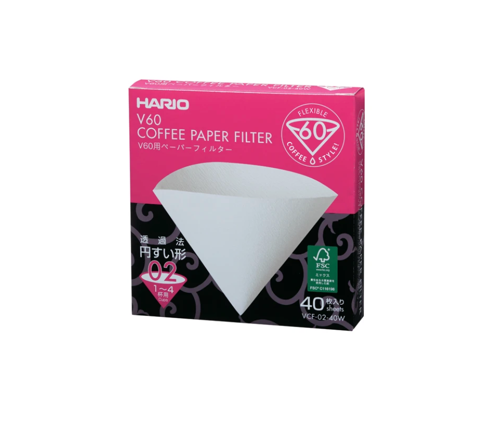 Hario V60 02 Filter Paper with 40