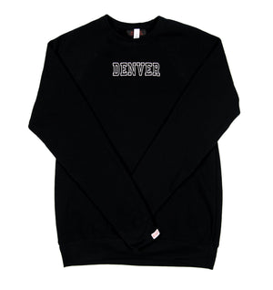 Denver Crewneck - Black/Silver