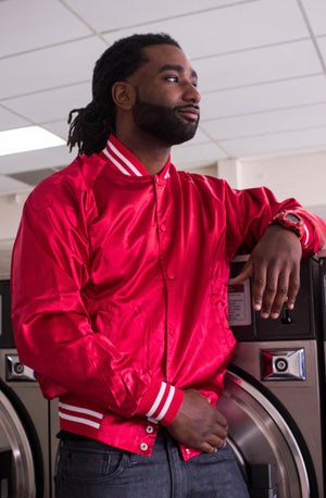 RMT Baseball Jacket- Red