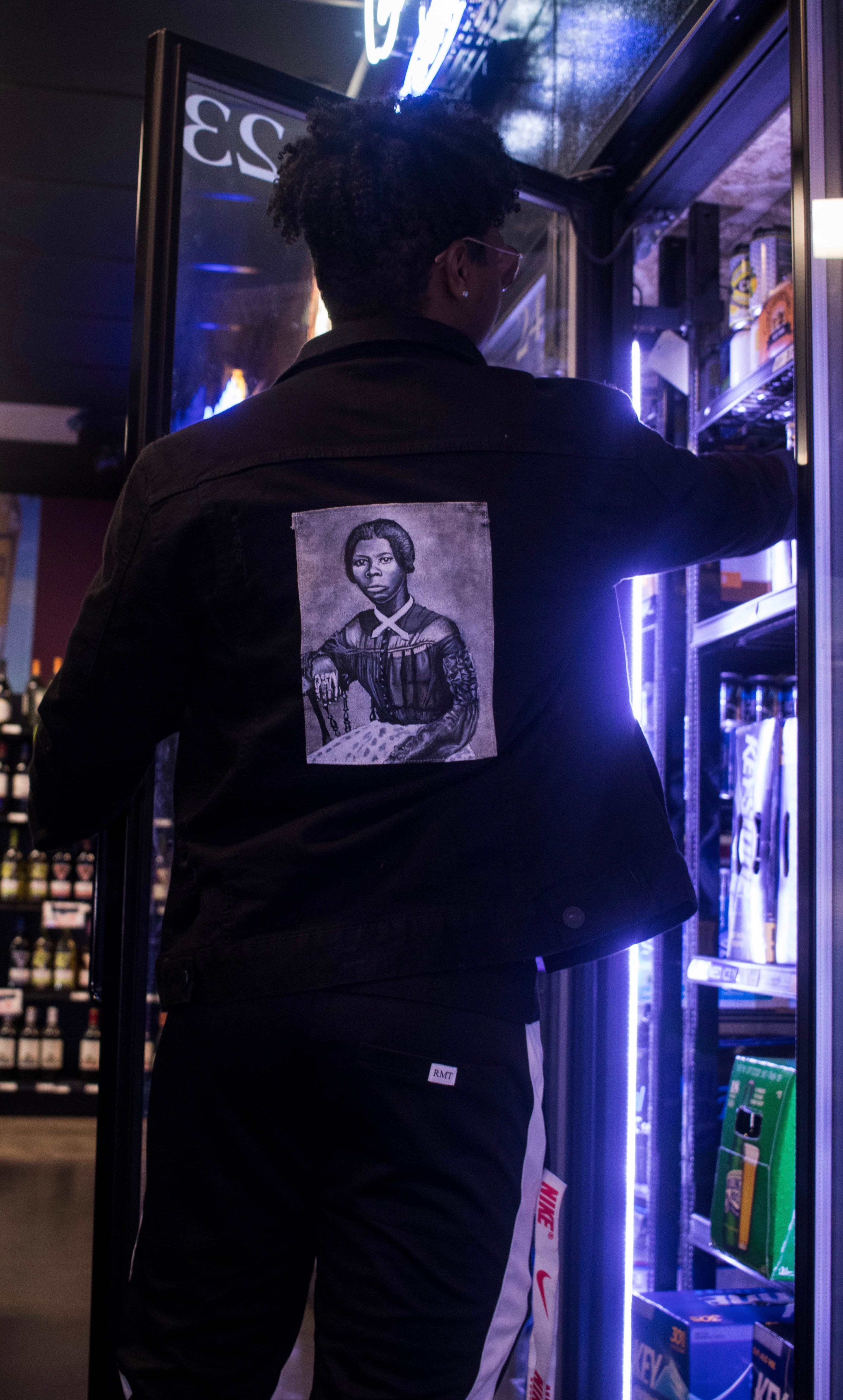 RMT Black History Jean Jacket- Harriet Tubman