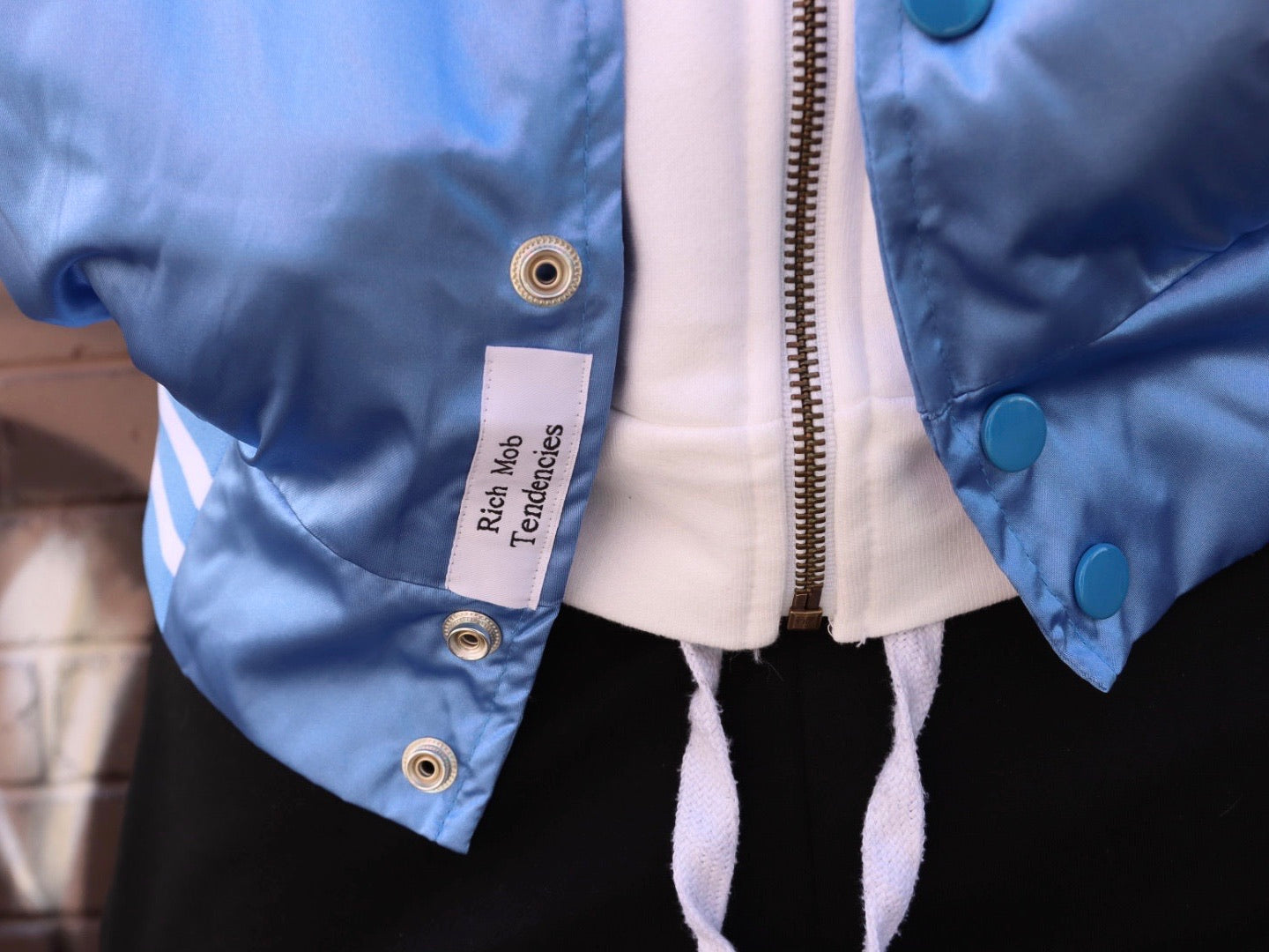 RMT Baseball Jacket- Powder Blue